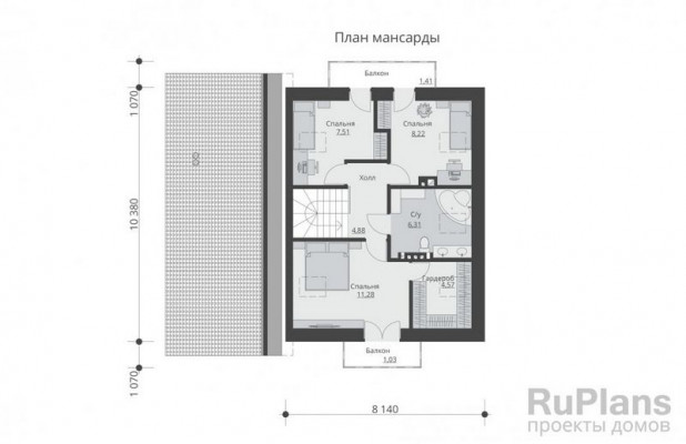 Дом 10,38 x 12,48